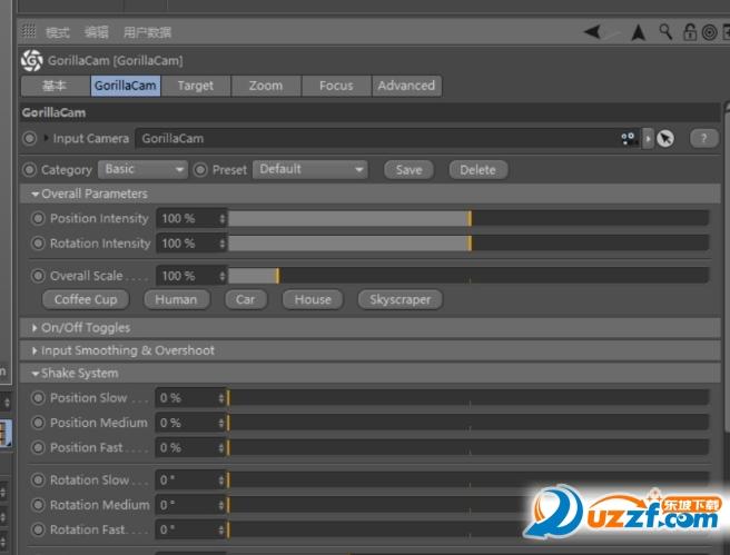 C4D逼真相机动画插件GorillaCam截图0