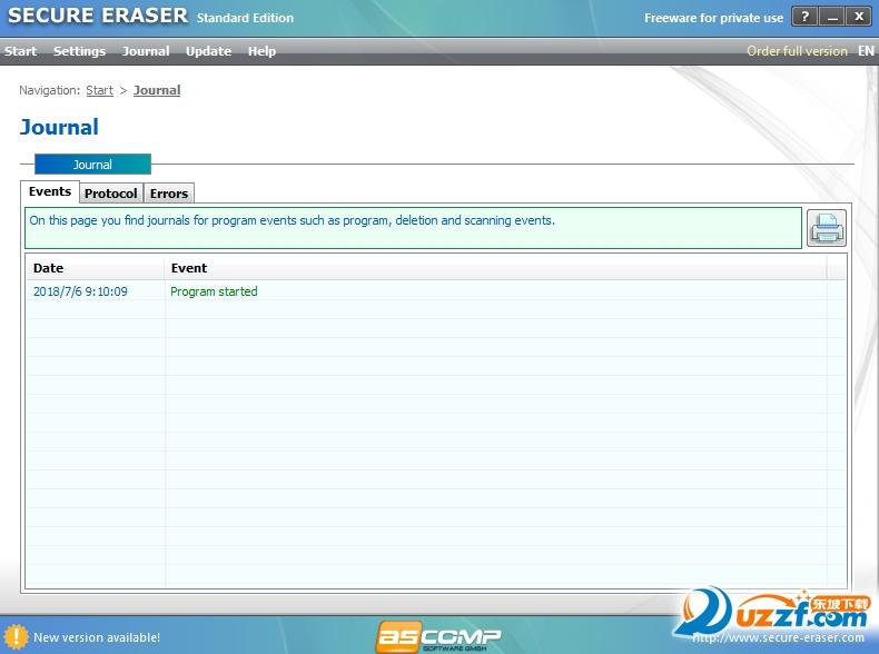 Secure Eraser Standard Edition卸载软件截图1