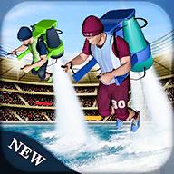水上喷水包速度比赛(Water Jetpack Speed Racing)