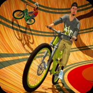 死亡自行车特技(Well of death bicycle stunt)
