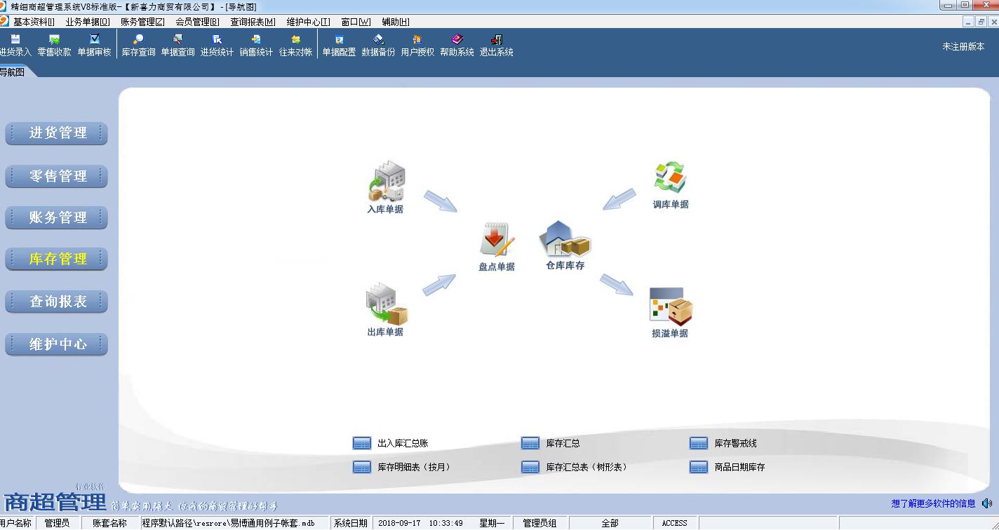 易达精细商超管理软件截图1