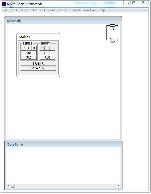 Smith圆图阻抗匹配计算软件截图0