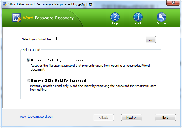 Word Password Recovery(word解密�件)