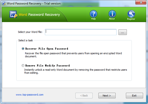Word Password Recovery(word解密�件)截�D1