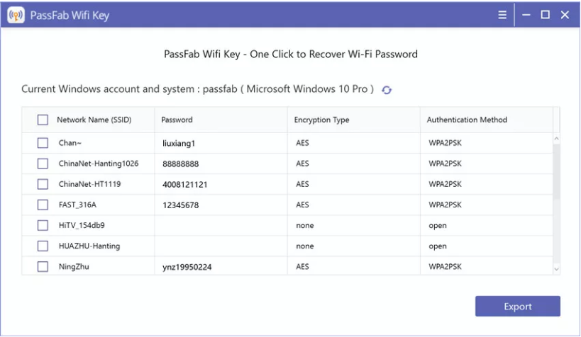 本地wifi查看密�a(PassFab Wifi Key)截�D1