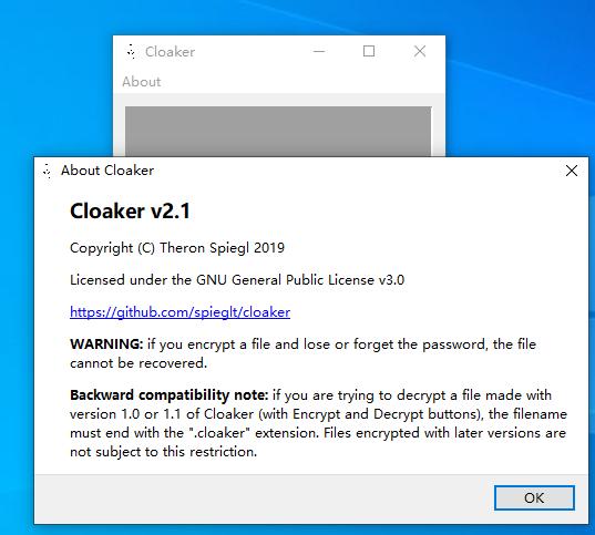 迷你文件加解密工具(Cloaker)截�D0