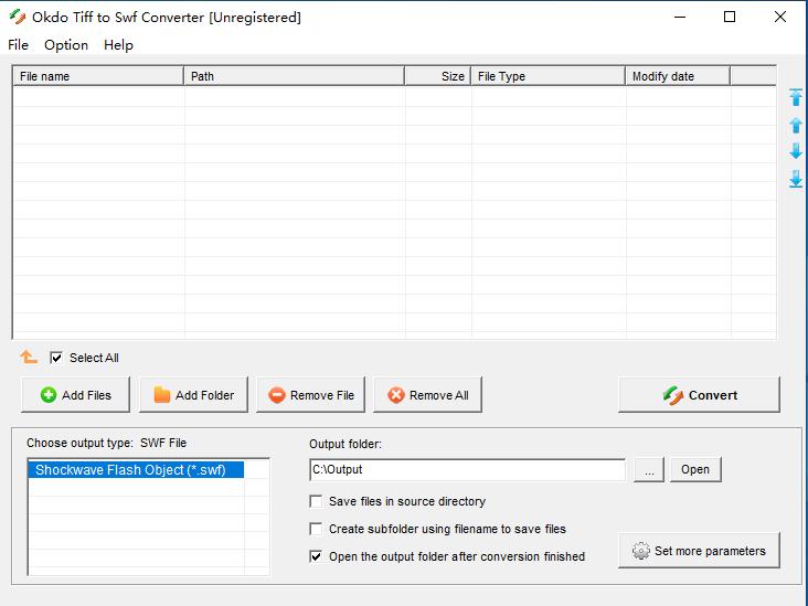 Tiff图像转Swf工具(Okdo Tiff to Swf Converter)截图0