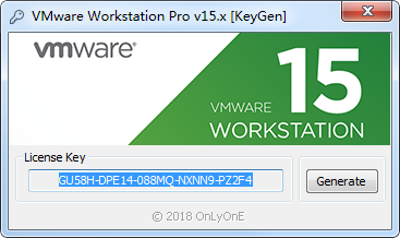 VMware Workstation Pro15注册机截图2