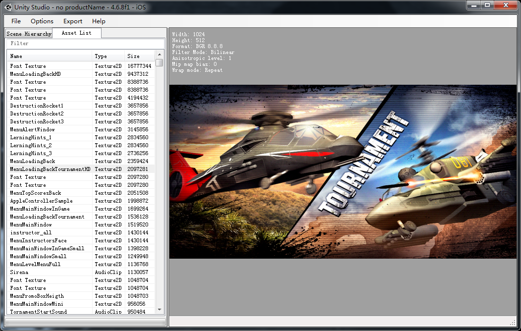 Unity3D游戏资源提取工具截图0