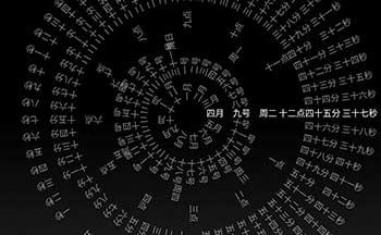时钟轮盘动态壁纸_手机八卦时钟屏保