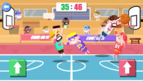 趣味双人篮球手游截图