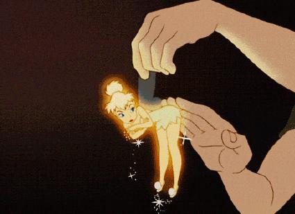 小仙女拍精灵掉金粉动态表情包截图1