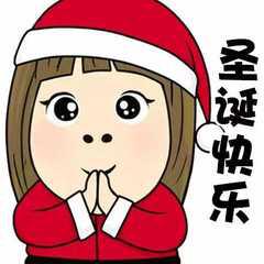 圣诞节表情包红帽子绿帽子