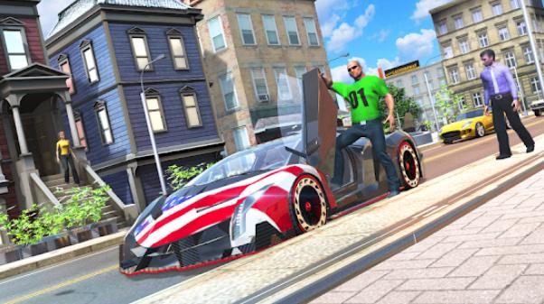 城市自由驾驶豪车游戏截图
