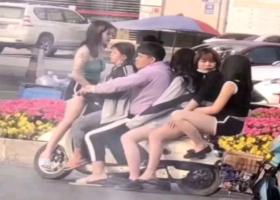摩托五��女警察抓明白什么意思 五��女的一��男的�瓶�什么梗