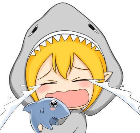 2021鲨鱼可爱带字表情包