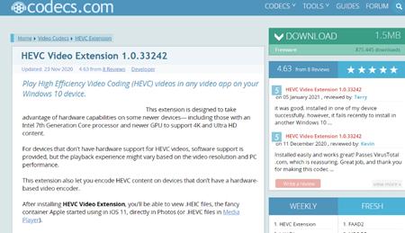 微�HEVC(H265)解�a�U展免�M版截�D1