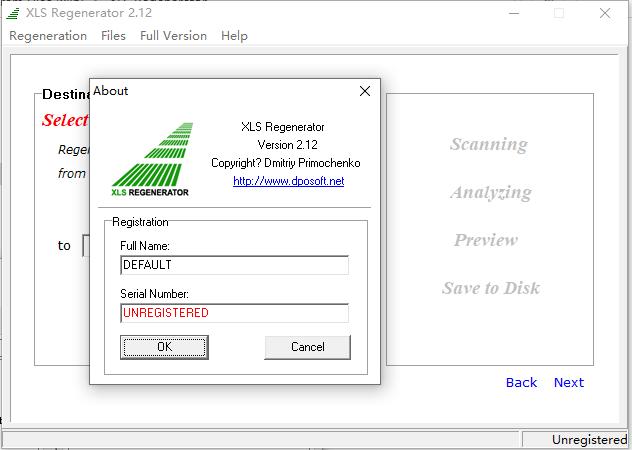 excel文件损坏修复工具(XLS Regenerator)截图1