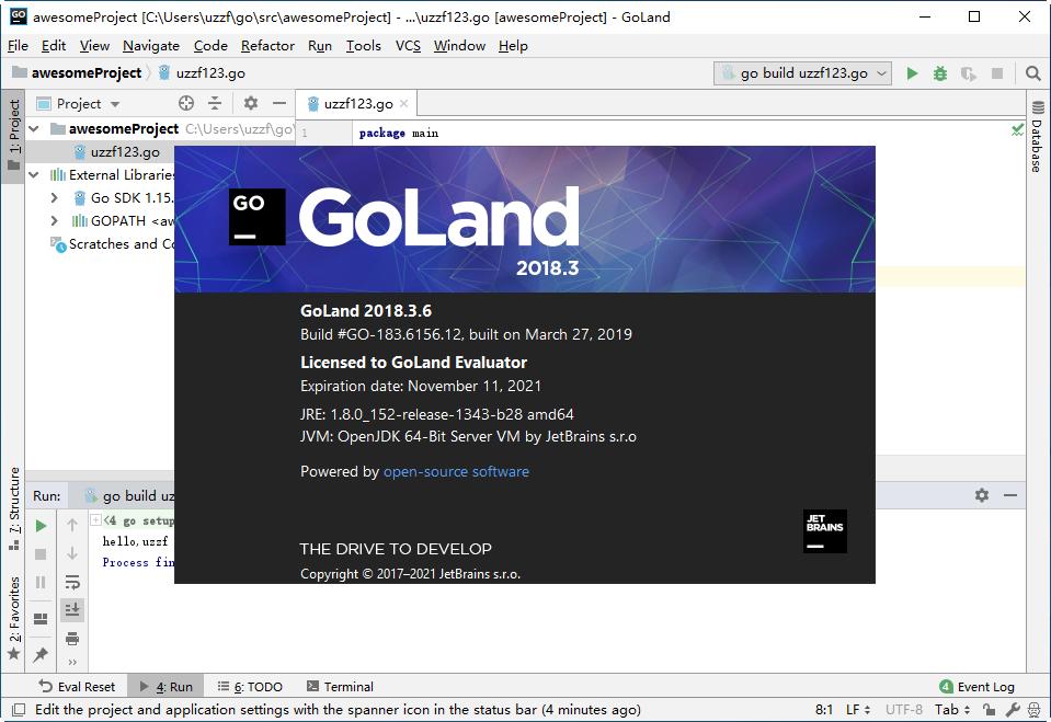 JetBrains GoLand 2018官方版截图1