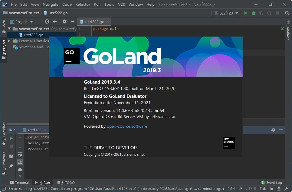 JetBrains GoLand 2019免费版截图1