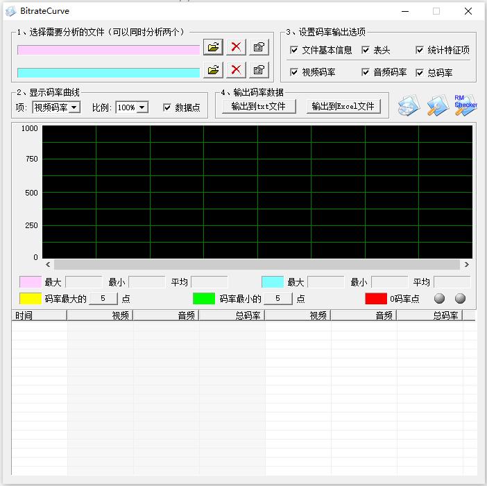 视频码率计算器(BitrateCurve)截图0