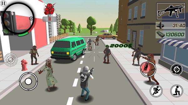 奔跑粉碎僵尸3D射击游戏
