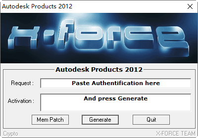 autodesk 2012 注册机截图0