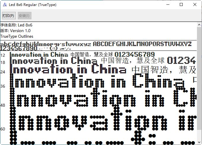 液晶数字字体ttf(1到9)截图1