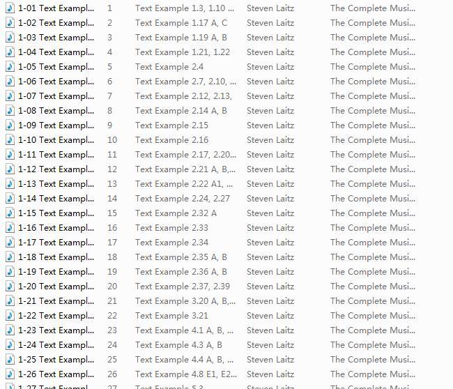 完全音乐理论教程音频文件截图0