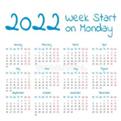 2022年日历打印版a4免费下载
