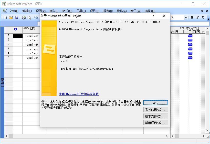 Microsoft Office Project 2007简体中文版截图1