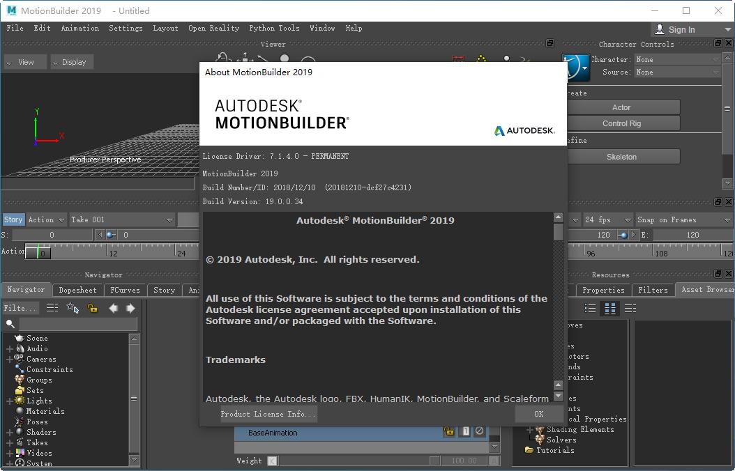 Autodesk MotionBuilder 2019官方版截�D1