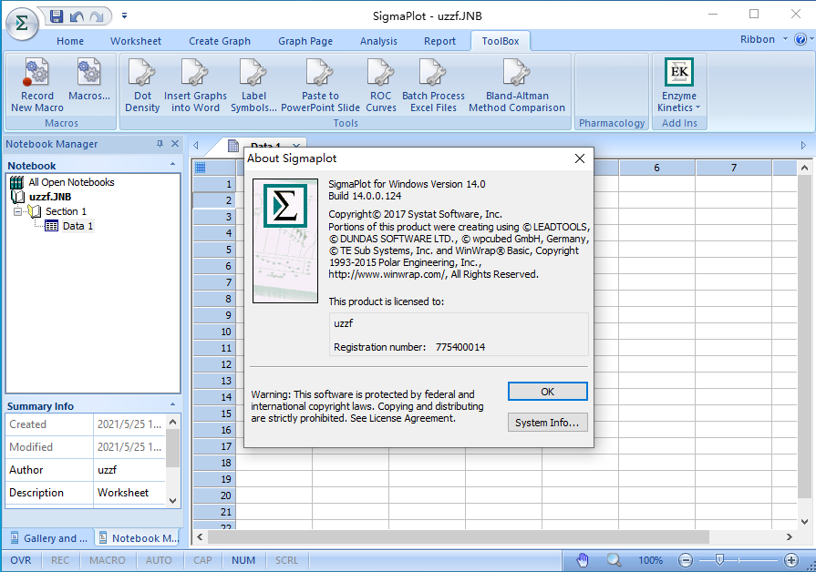 sigmaplot14.0科研�L�D工具截�D1