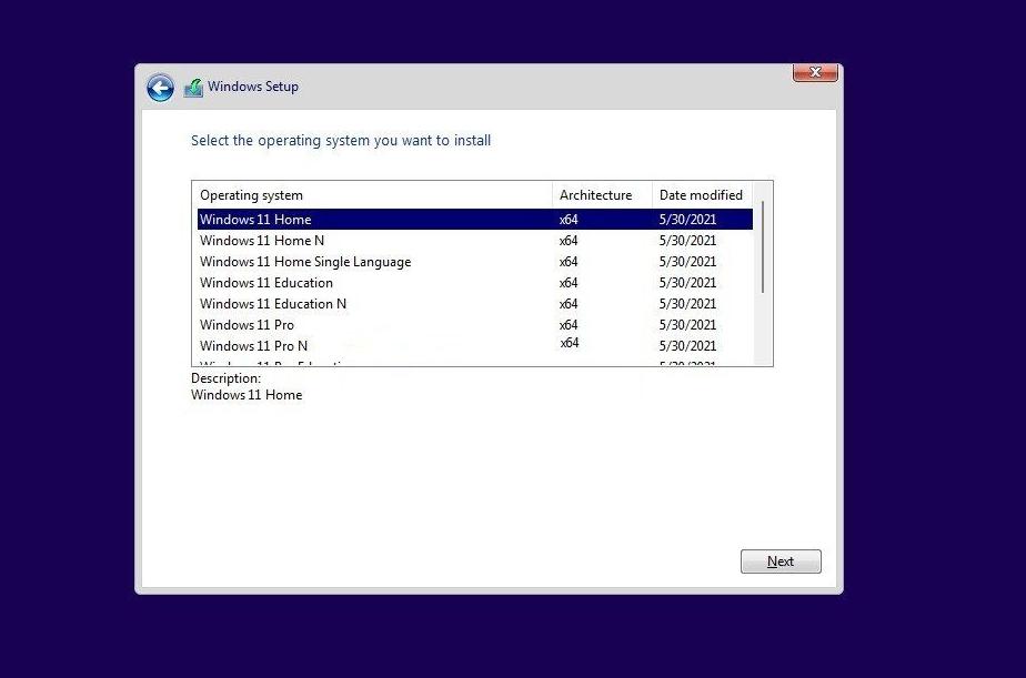 Windows 11消费者版(含家庭版/专业版/专业工作站/家庭单语言版)