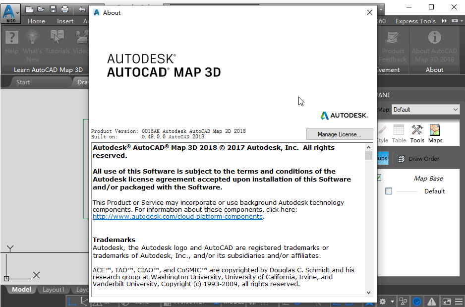 AutoCAD Map 3D 2018免费破解版【附注册机】截图2