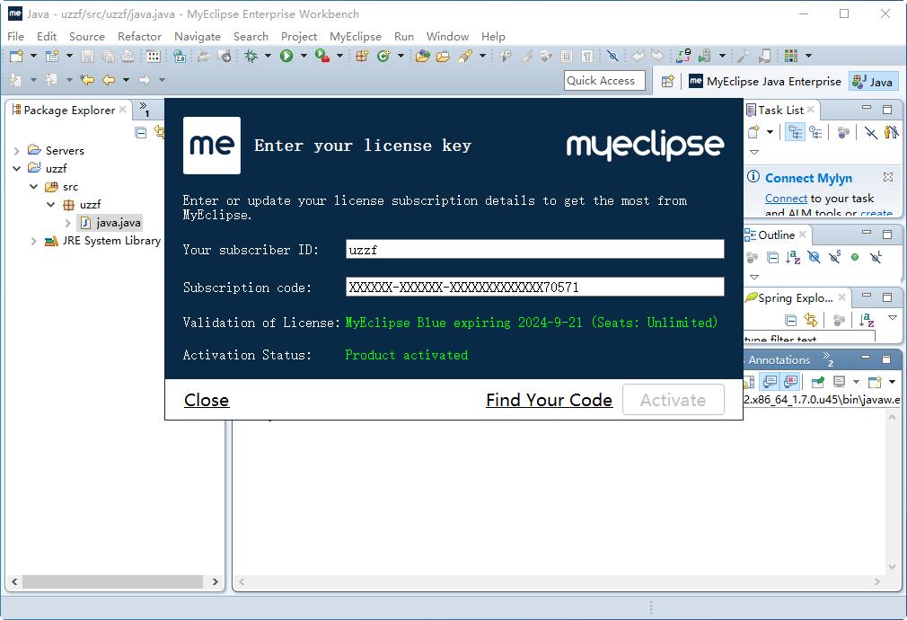 myeclipse2015 stable 1.0 破解版截图1