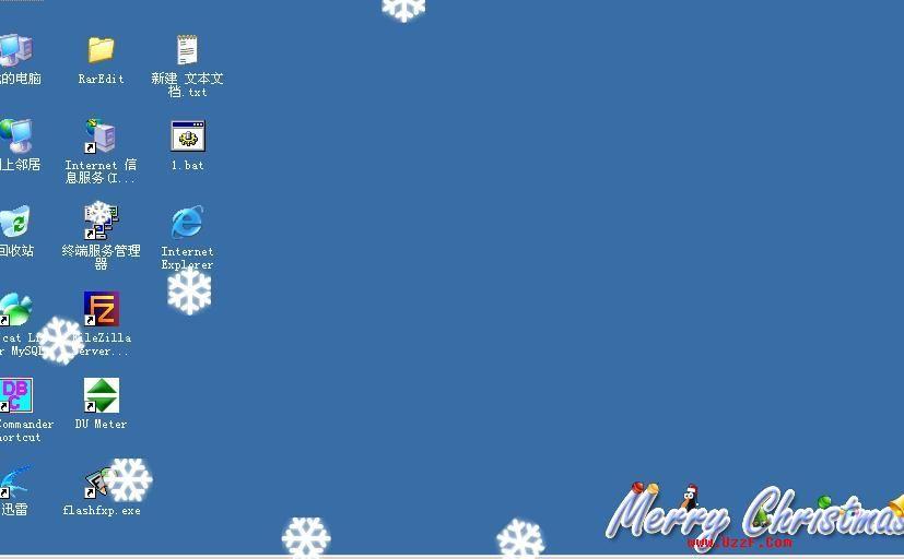 桌面雪花 - 桌面飘落雪花 圣诞酷玩小软件截图0
